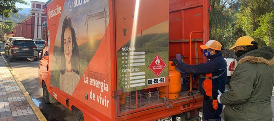Entregan vales de recarga de gas para vecinos entre el 41 y 60% del Registro Social de Hogares