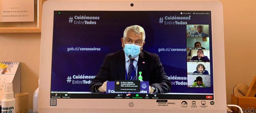 Ministerio de Salud se reunió con alcaldes del país presentando plan de desconfinamiento evolutivo