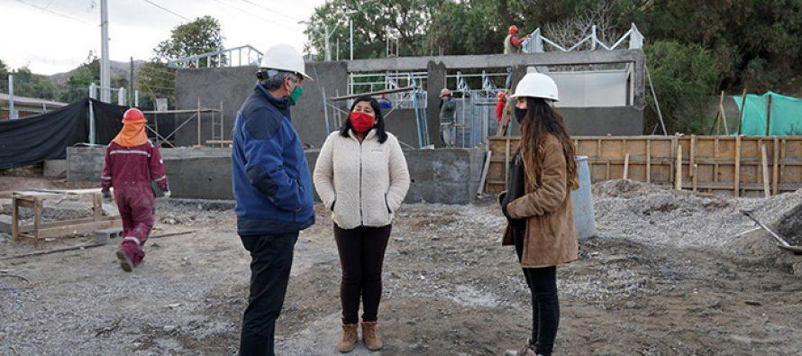 Sede social vecinal de Huancara presenta un 50% de avance de construcción