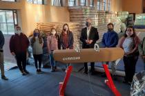 Alumnos de Escuela de Gimnasia Artística de Vicuña cuentan con nueva implementación