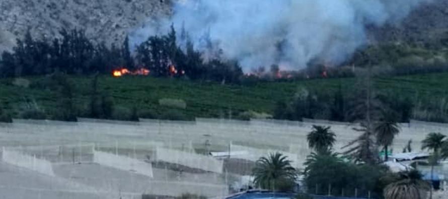 Coordinan envío de brigadas para reposición del suministro en Paihuano debido al incendio