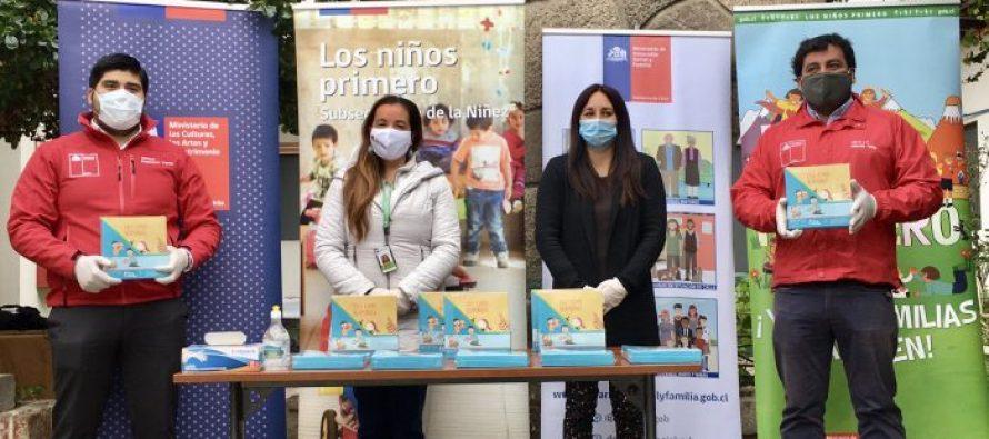 Entregan libros de cuentos a niños y niñas de jardines infantiles de la región