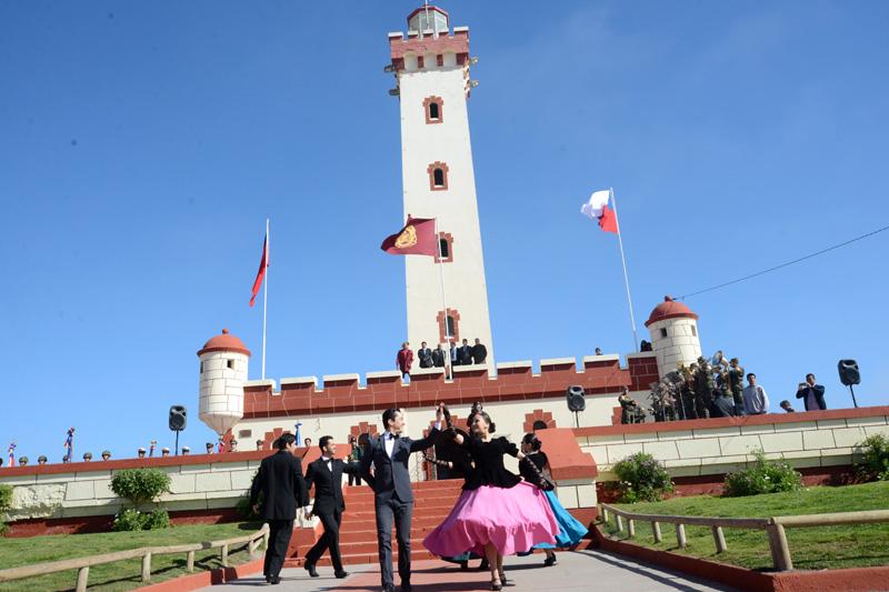 Photo of Con izamiento de bandera comunal dan el vamos al mes aniversario de La Serena