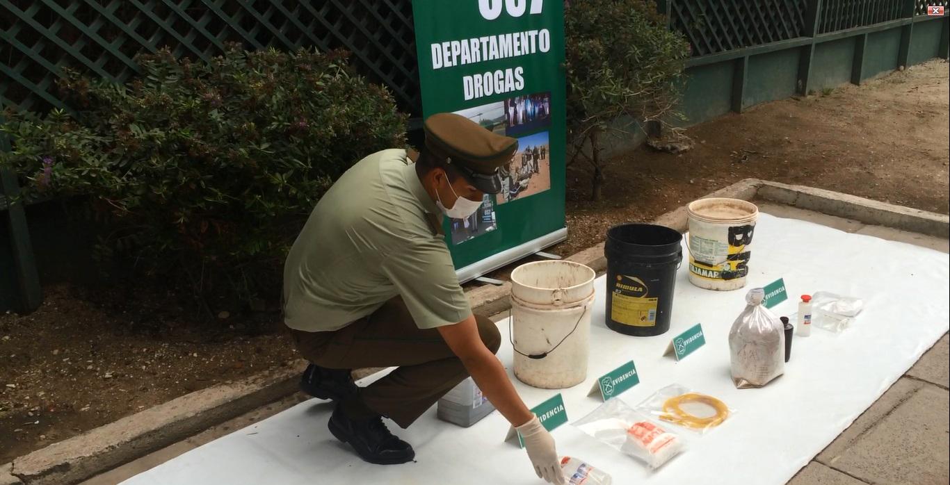"""Photo of Operación """"Torre Bauer"""" desbarata laboratorio artesanal de clorhidrato de cocaína en Vicuña"""