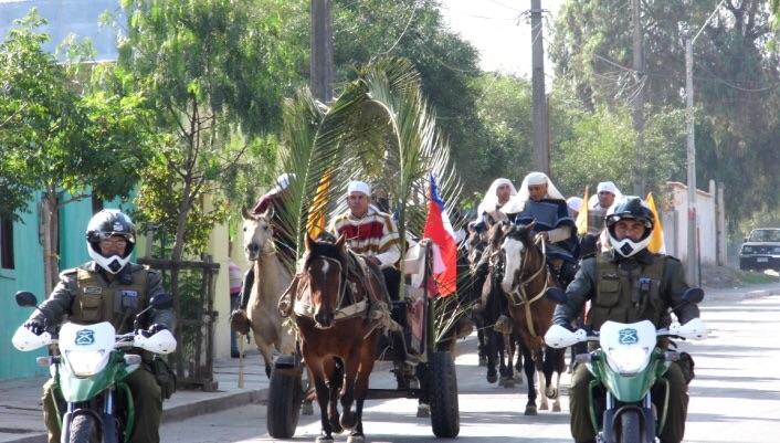 Photo of Carabineros colaboró durante celebración de fiesta de cuasimodo en Vicuña