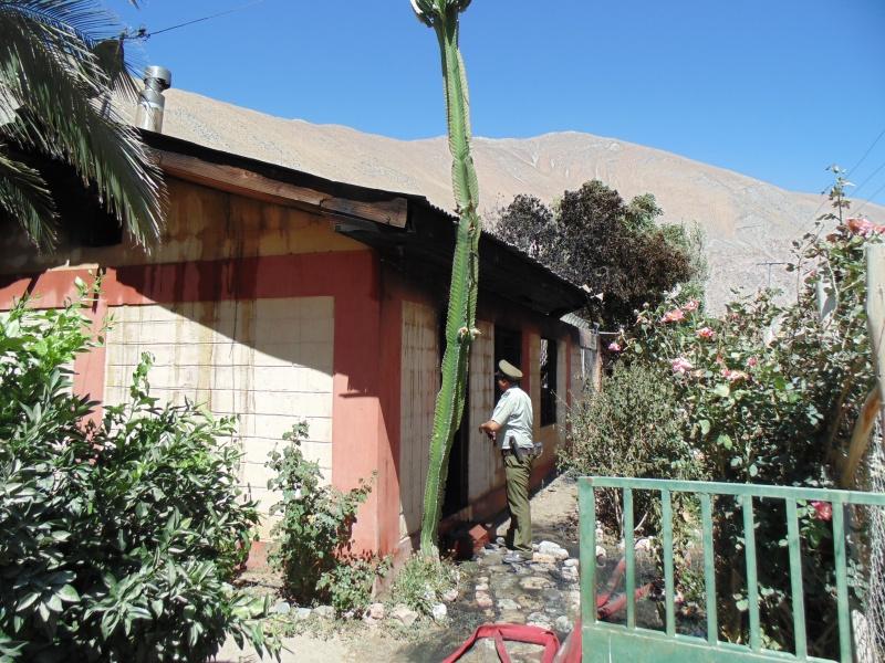 Photo of Vivienda es consumida por un incendio en Paihuano