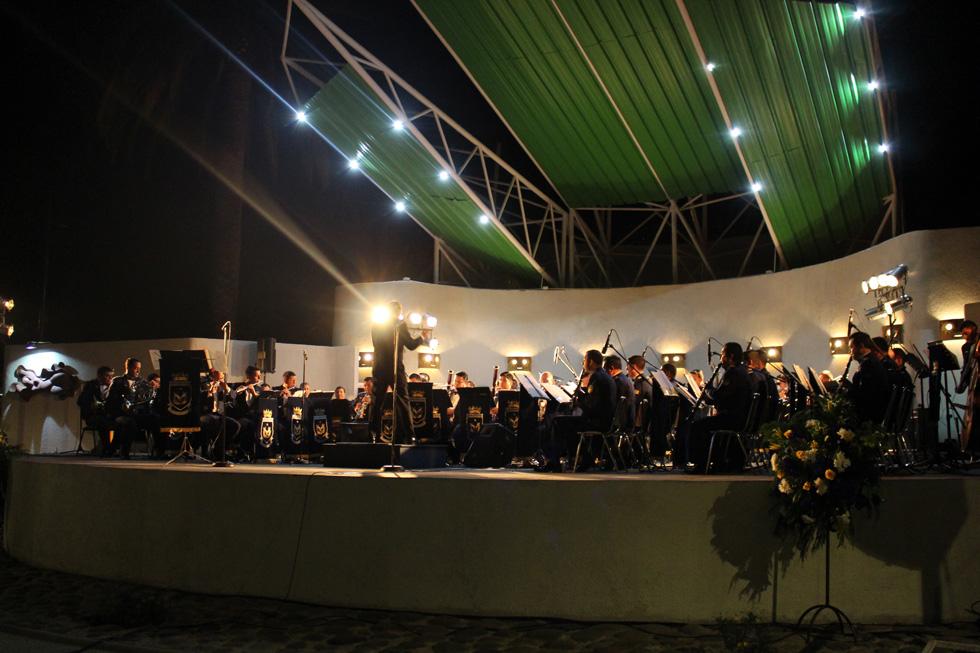 Photo of Banda Sinfónica de la Fuerza Aérea inaugura musicalmente el escenario de la plaza de Vicuña