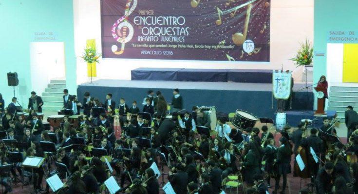 Photo of Orquesta de Niños del Valle de Elqui de Paihuano deleitó al público de Andacollo
