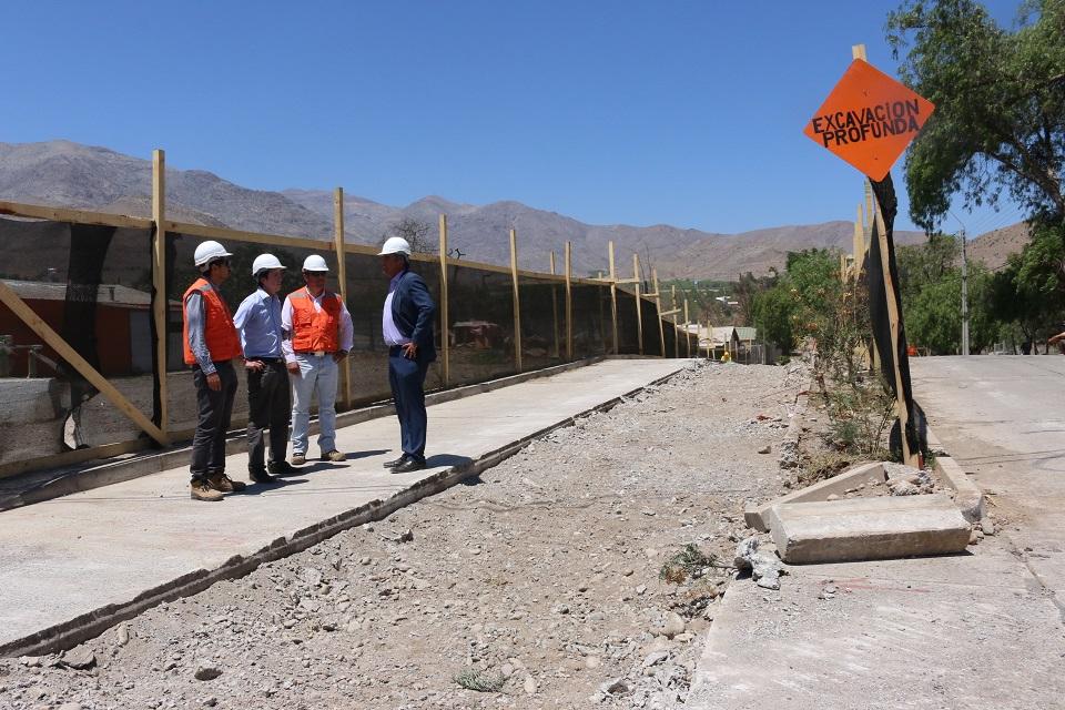 Photo of Avanza construcción de colector de aguas lluvia en Vicuña
