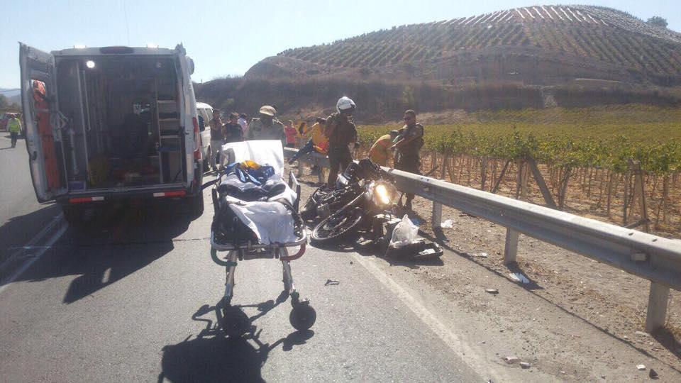 Photo of Motociclista argentino fallece en la ruta 41CH sector Diaguitas de la comuna de Vicuña