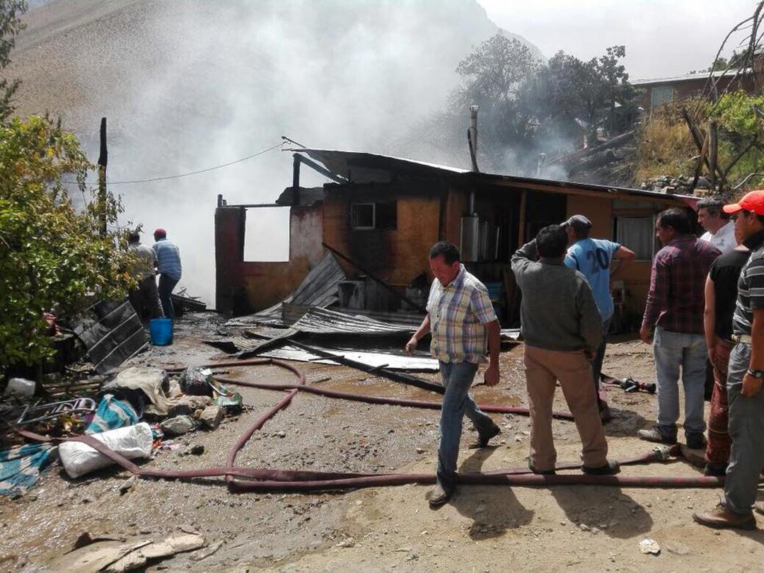 Photo of Incendio consumió vivienda en la Quebrada de Paihuano
