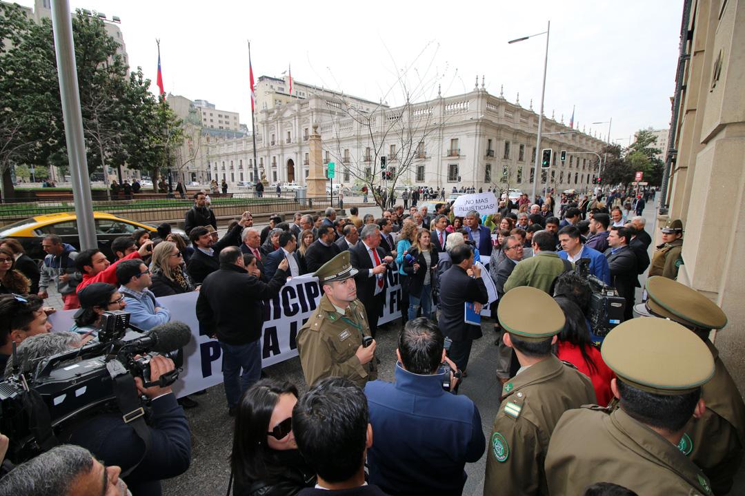 Photo of En Santiago municipios marcharon exigiendo recursos para leyes sin financiamiento