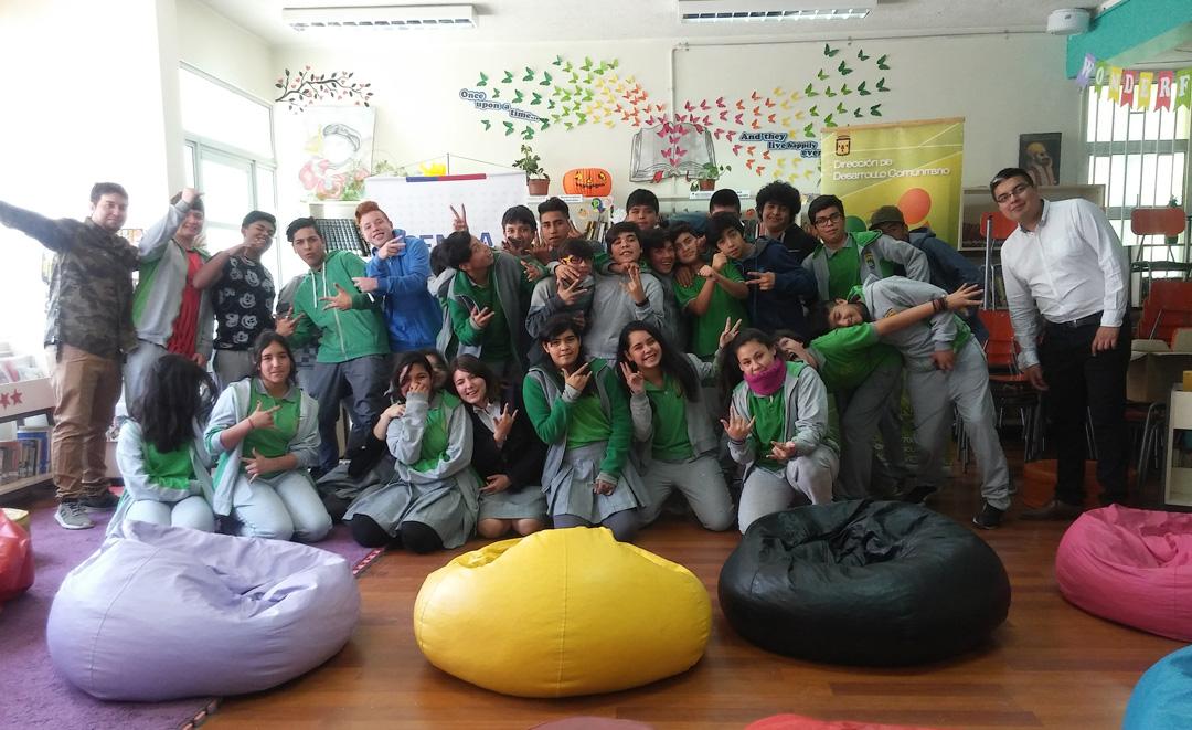 """Photo of Estudiantes de Peralillo participan en intervención urbana """"Ritmo y color en mi pueblo"""""""