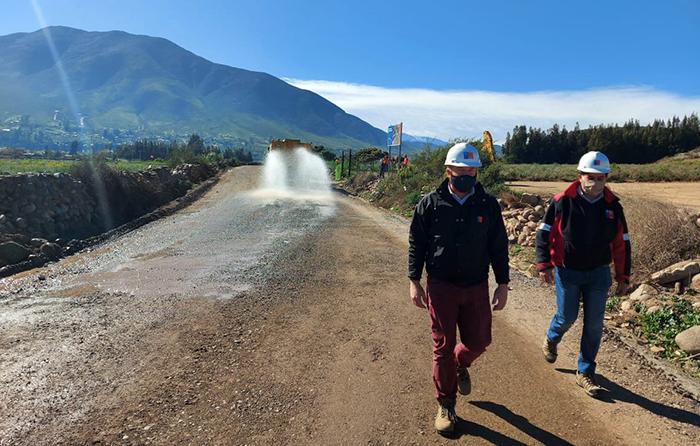 Photo of MOP avanza en pavimentación de ruta interior que une El Rosario con Las Rojas en La Serena