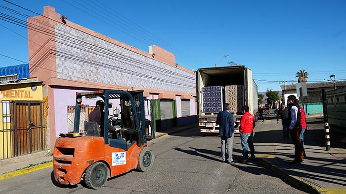Photo of Llega a Vicuña parte de las cajas de la 2da parte del programa Alimentos para Chile