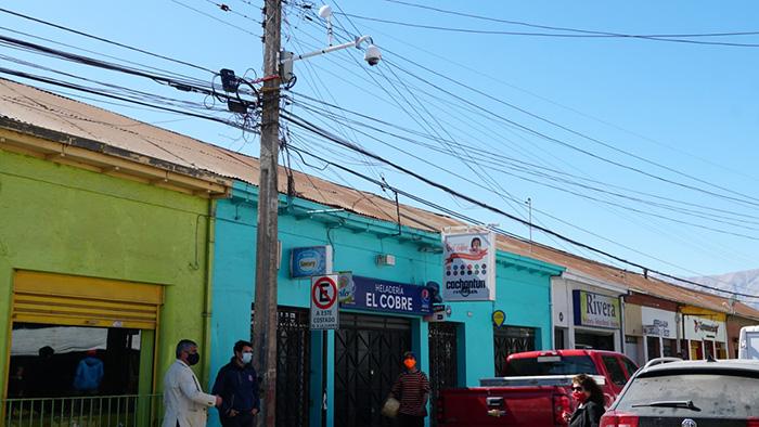 Photo of Cámaras de seguridad resguardan el centro comercial de la comuna de Vicuña