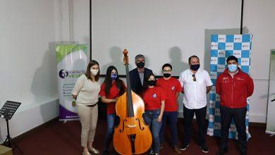 Photo of Orquesta Municipal de Vicuña Gabriela Mistral recibe donación de parte de la FOJI