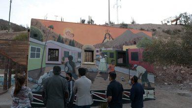 Photo of Villa Puclaro cuenta con mural de ingreso que rescata la historia y el origen de la localidad